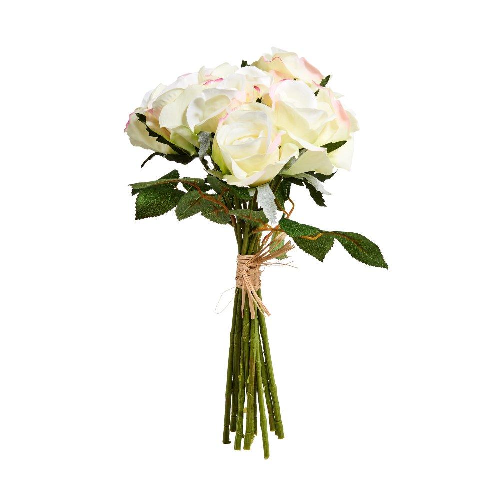 Зображення Букет троянд штучний FLORISTA Білий H:35 см. 10213955