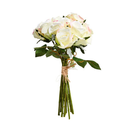 Изображение Букет роз искусственный FLORISTA Белый H:35 см. 10213955
