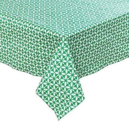 Изображение Скатерть WATERPROOF Зеленый в сочетании 110х110 см.  10214020