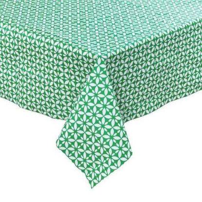 Зображення Скатертина WATERPROOF Зелений в поєднанні 130х160 см. 10214026