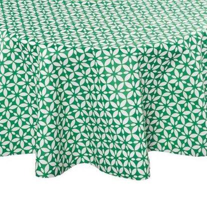 Изображение Скатерть WATERPROOF Зеленый в сочетании O:140 см. 10214039