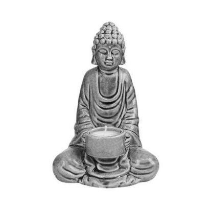 Изображение Фигура будды BUDDHA Серый H:20 см. 10214171