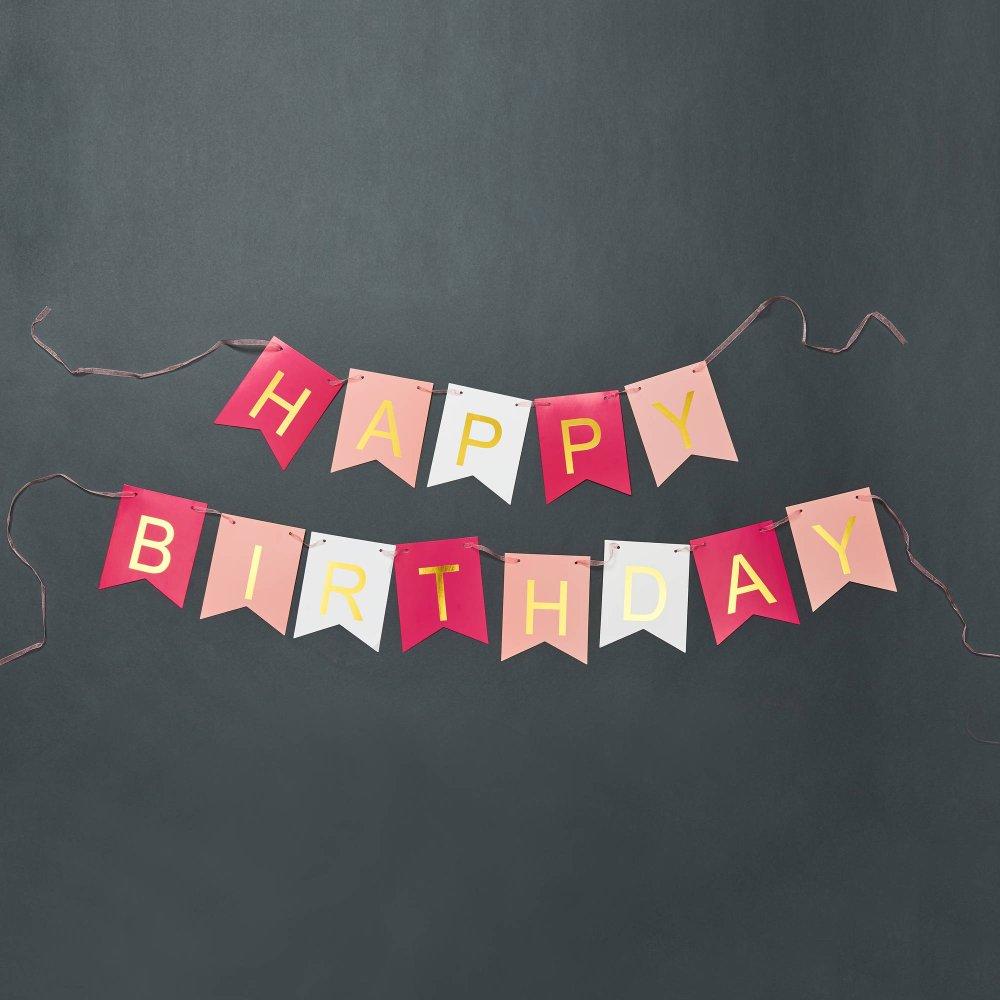 Зображення Гірлянда декоративна BANNER DAY Рожевий 350х15х1.5 см. 10214331
