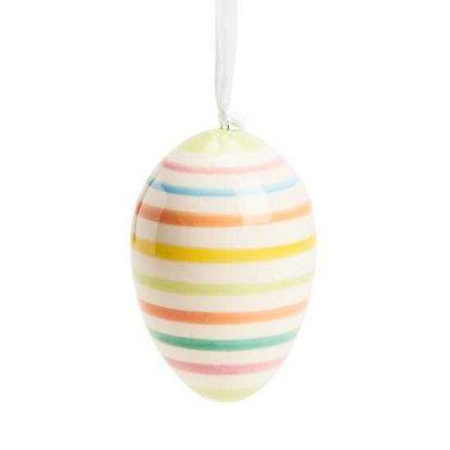 Зображення Яйце декоративне EASTER Жовтий в поєднанні H:8 см. 10214426