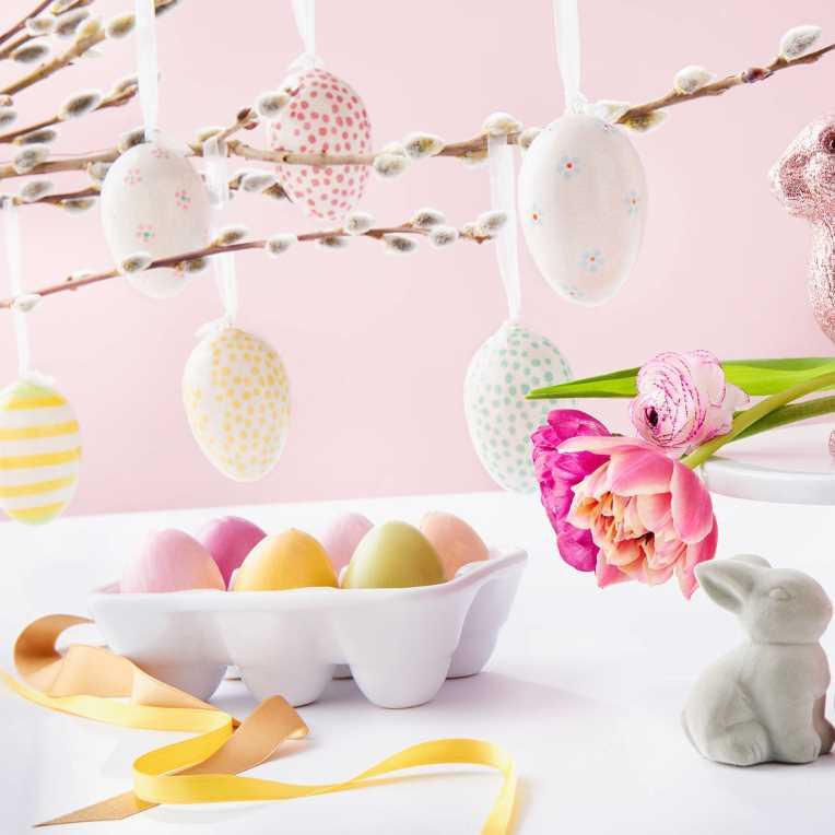 Зображення Яйце декоративне EASTER Білий в поєднанні H:8 см. 10214438