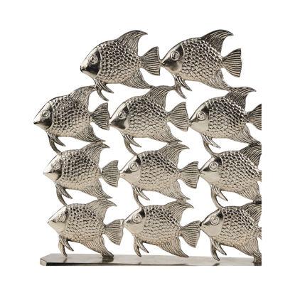 Изображение Декорация стая рыбок SILVER NATURE Серебряный 41х40 см. 10214594