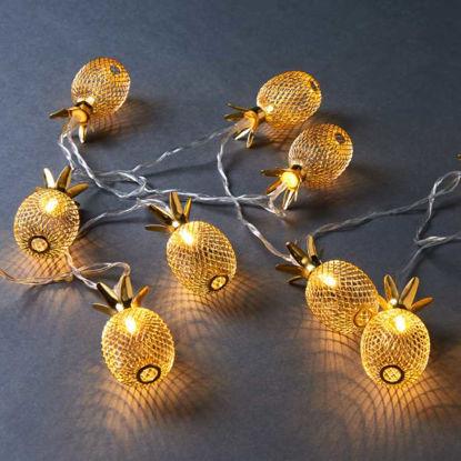 Зображення Гірлянда декоративна MIAMI Золотий L:165 см. 10214774
