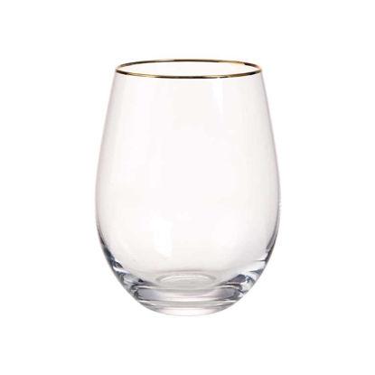 Зображення Склянка TOUCH OF GOLD Прозорий в поєднанні V:515 мл. 10214844