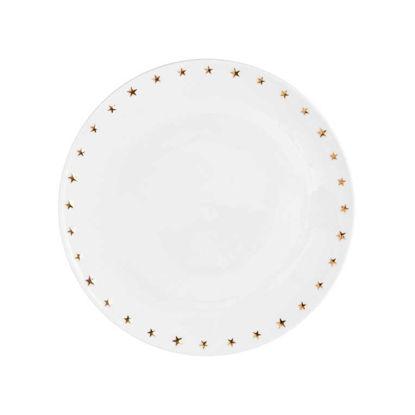 Зображення Тарілка GOLDEN STAR Білий в поєднанні O:25 см. 10215525