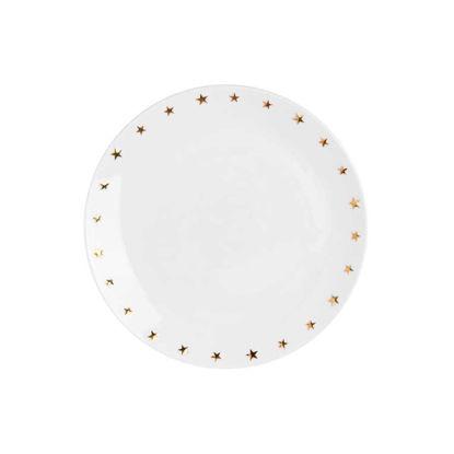 Зображення Тарілка GOLDEN STAR Білий в поєднанні O:20 см. 10215526