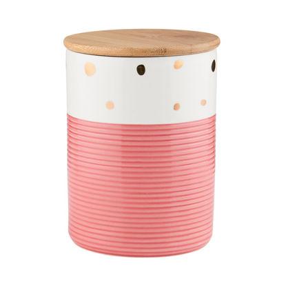 Зображення Ємність кухонна з кришкою SWEET HOLLY Рожевий в поєднанні 14х14х18.5 см. 10215548