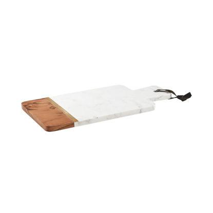 Изображение Доска с ручкой MARBLE KITCHEN Белый в сочетании 35.5х16.5 см. 10215621