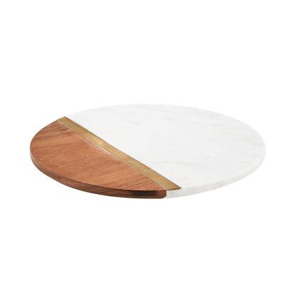 Зображення Підставка під тарілки MARBLE KITCHEN Білий в поєднанні O:30 см. 10215624