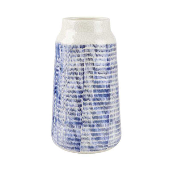 Изображение Ваза COTE SAUVAGE Синий в сочетании H:27.5 см. 10215740