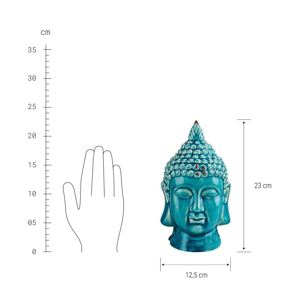 Зображення Голова будди декоративна BUDDHA Блакитний 10215745