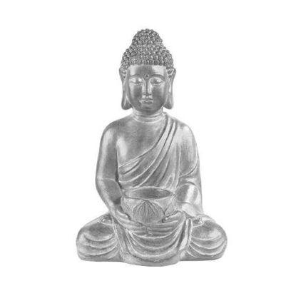 Изображение Фигура будды BUDDHA Серебряный 30х23х46 см. 10215752
