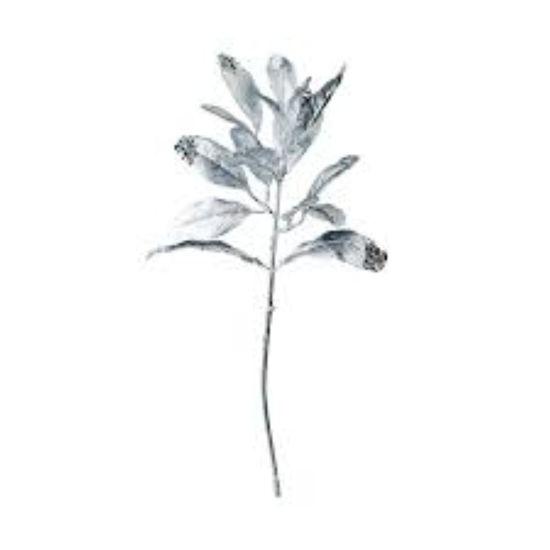 Изображение Ветка искусственная WINTERGREEN Серебряный H:37 см. 10216087