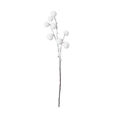 Изображение Ветка искусственная WINTERGREEN Белый L:80 см. 10216115