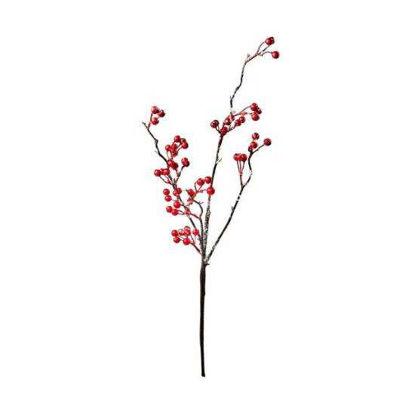 Изображение Ветка с листьями искусственная WINTERGREEN Розовый L:54 см. 10216124