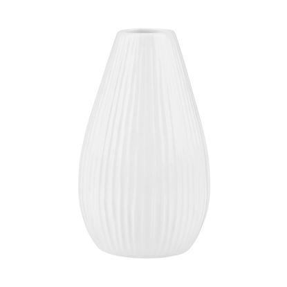 Изображение Ваза для цветов RIFFLE Белый H:15.5 см. 10216215