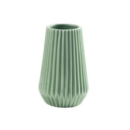 Изображение Ваза для цветов RIFFLE Зеленый H:13.5 см. 10216217