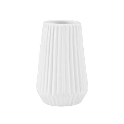Зображення Ваза для квітів RIFFLE Білий H:13.5 см. 10216220