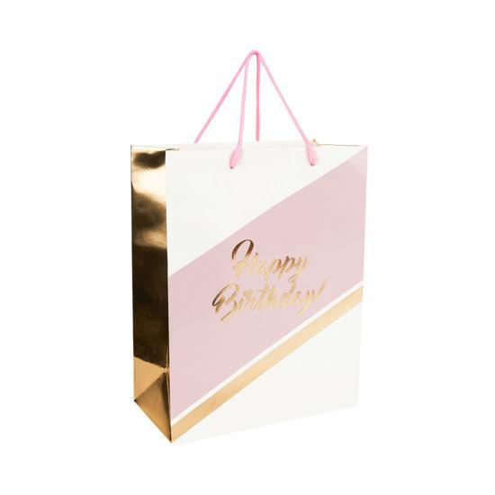 Зображення Пакет подарунковий CELEBRATION Рожевий в поєднанні 26х33.5х13.5 см. 10216224