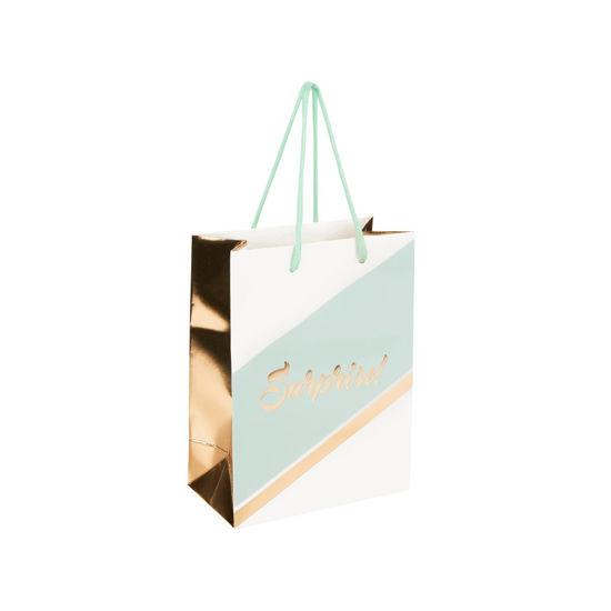 Зображення Пакет подарунковий CELEBRATION Синій в поєднанні 17х22.5х9.2 см. 10216225