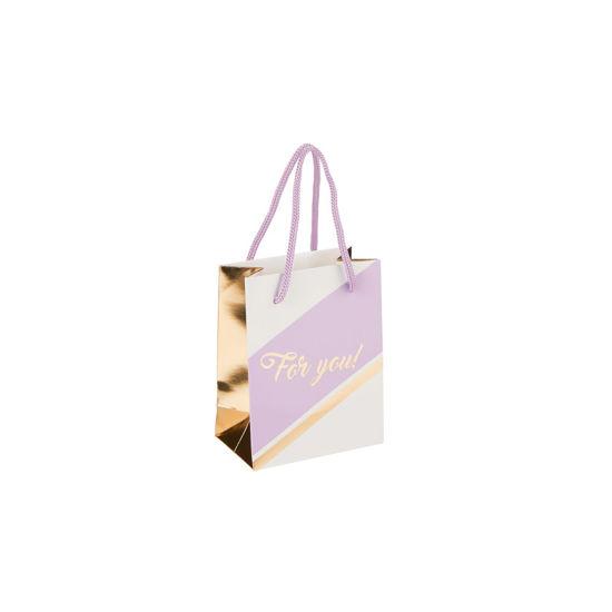 Зображення Пакет подарунковий CELEBRATION Бузковий в поєднанні 11х14х6.5 см. 10216226
