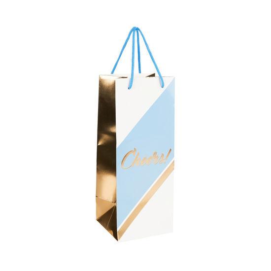 Зображення Пакет подарунковий CELEBRATION Блакитний в поєднанні 13х12х32.7 см. 10216227