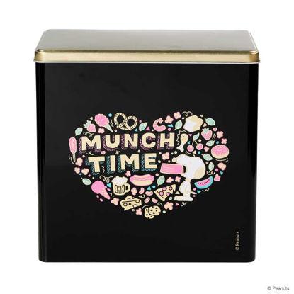 Зображення Коробка для зберігання печива PEANUTS Чорний 20х13х19.7 см. 10216290