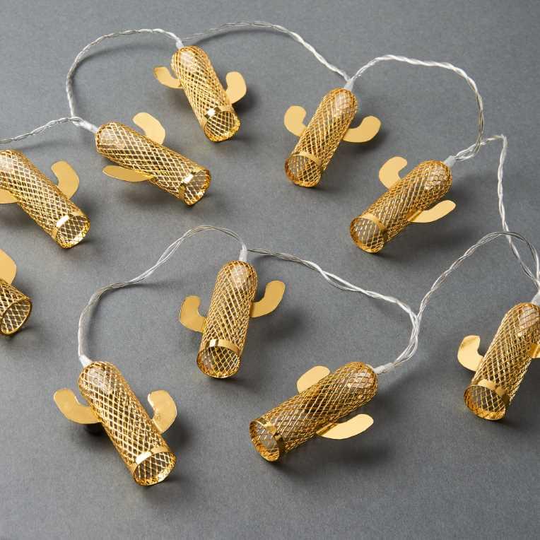 Изображение Гирлянда декоративная MIAMI Золотой L:165 см. 10216305