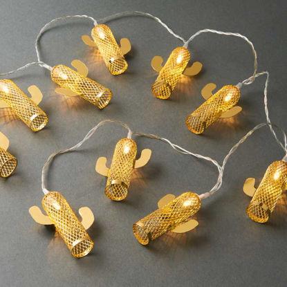 Зображення Гірлянда декоративна MIAMI Золотий L:165 см. 10216305