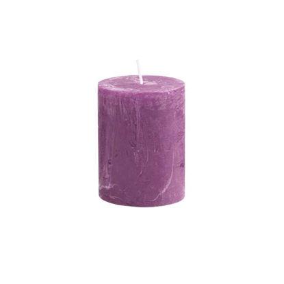 Зображення Свічка RUSTIC Бузковий в поєднанні H:9 см. 10216336
