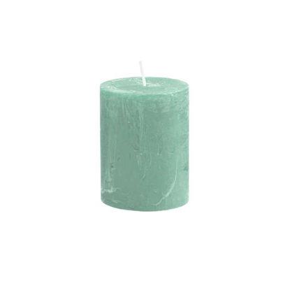 Зображення Свічка RUSTIC Зелений H:9 см. 10216339