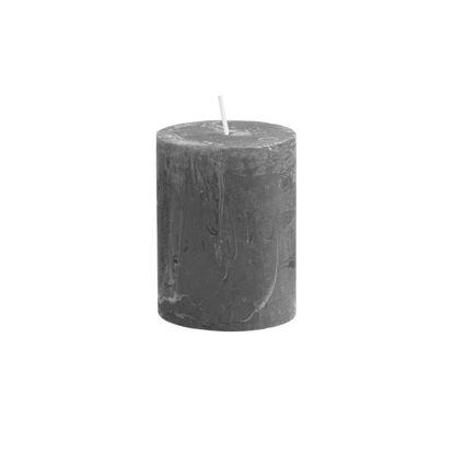 Зображення Свічка RUSTIC Сірий H:9 см. 10216345