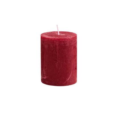 Изображение Свечка RUSTIC Красный H:9 см. 10216346