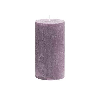 Изображение Свечка RUSTIC Лиловый в сочетании H:13 см. 10216352