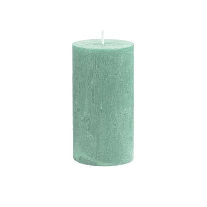 Зображення Свічка RUSTIC Зелений H:13 см. 10216354