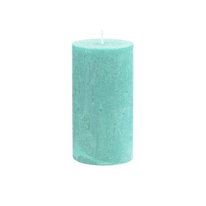 Зображення Свічка RUSTIC Блакитний в поєднанні H:13 см. 10216356