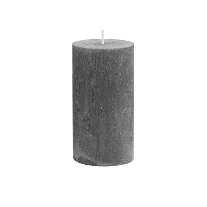 Изображение Свечка RUSTIC Серый O:6.8 см. H:13 см. 10216359