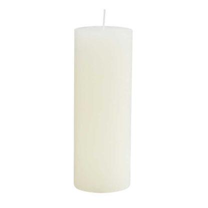 Зображення Свічка RUSTIC Білий H:19 см. 10216362