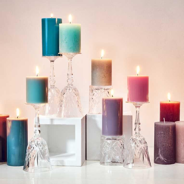 Зображення Свічка RUSTIC Рожевий H:10 см. 10216406