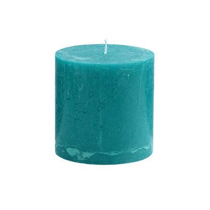Изображение Свечка RUSTIC Голубой в сочетании H:10 см. 10216411