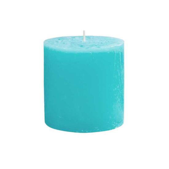 Зображення Свічка RUSTIC Блакитний H:10 см. 10216413