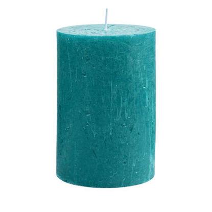 Изображение Свечка RUSTIC Голубой в сочетании H:15 см. 10216425