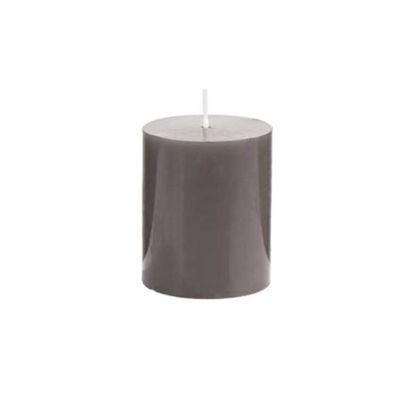 Зображення Свічка GLAZE Сірий H:8 см. 10216438