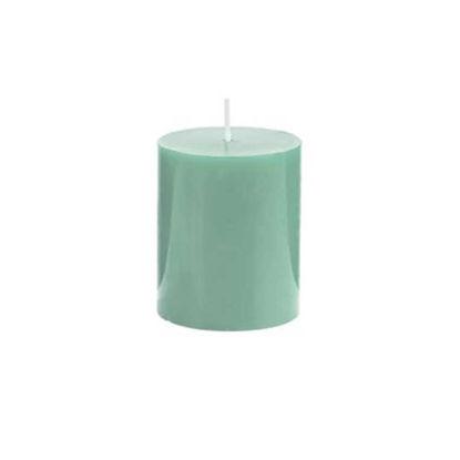 Зображення Свічка GLAZE Зелений H:8 см. 10216443