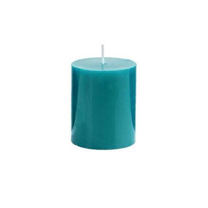Зображення Свічка GLAZE Блакитний в поєднанні H:8 см. 10216445