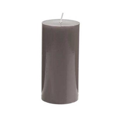 Зображення Свічка GLAZE Сірий H:15 см. 10216491
